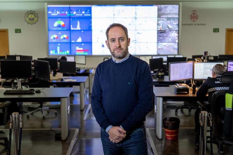 El concejal de Protección Ciudadana de València, Aarón Cano, en una imagen de archivo. EFE/Biel Aliño
