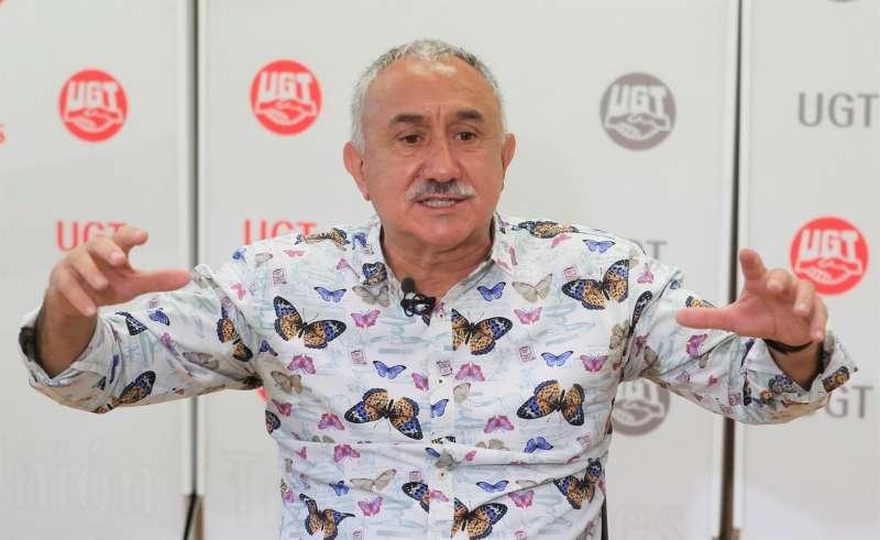 El secretario general de UGT, Pepe Álvarez, en una imagen de archivo en la sede del sindicato.