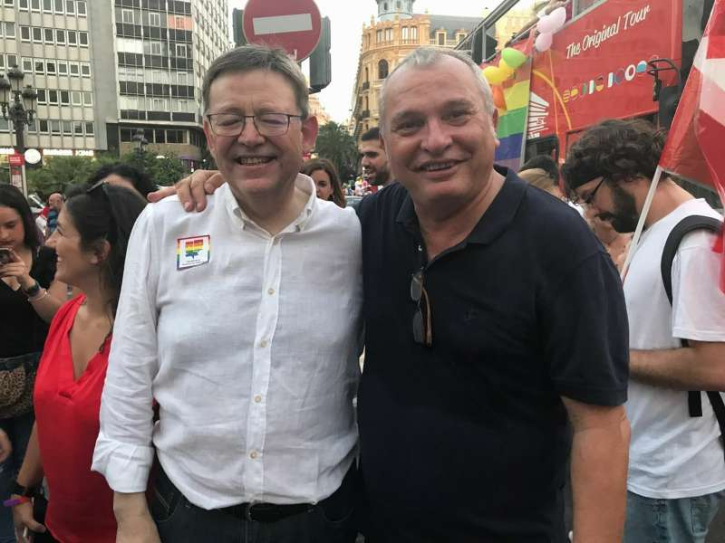 Ximo Puig y Josep Albiol. FOTO EPDA