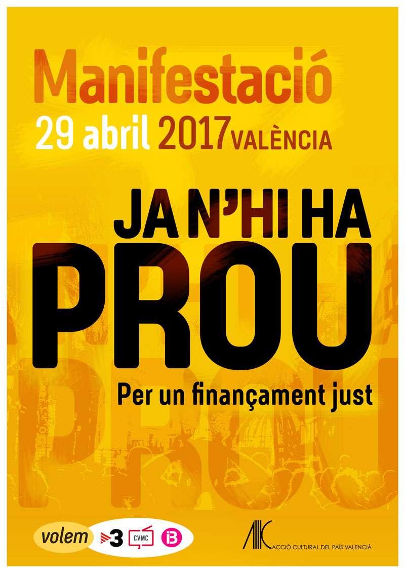 Cartell informatiu de la manifestació