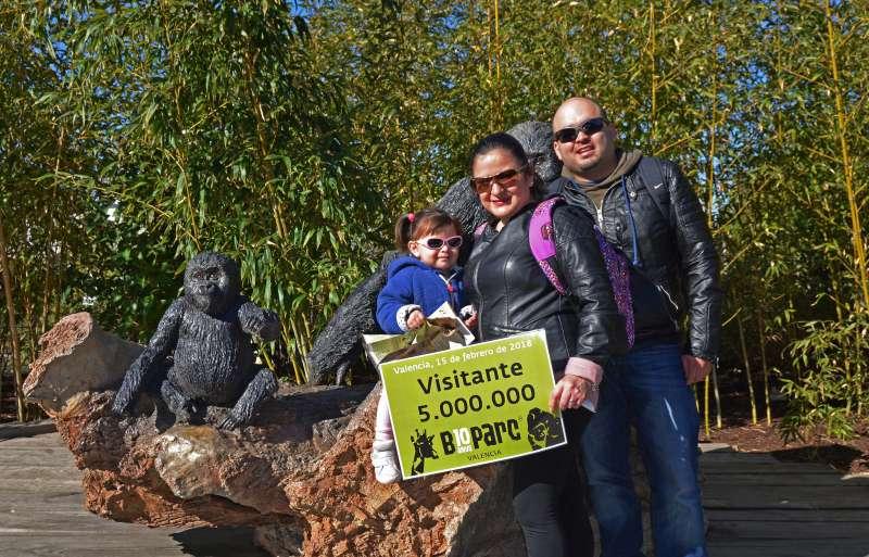 La familia de Formentera en el Bioparc. EPDA
