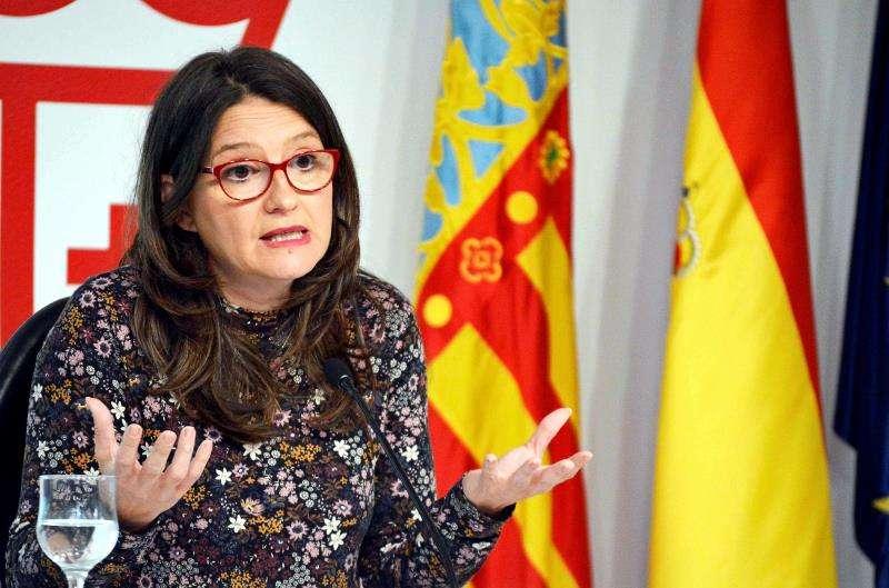 La vicepresidenta y portavoz del Consell, Mónica Oltra, tras el pleno del Consell del pasado viernes. EFE