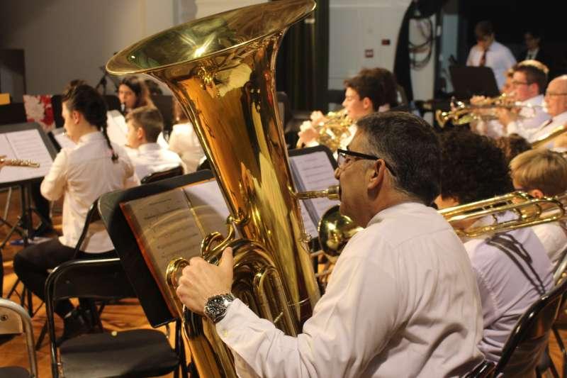 Músicos en el Concierto de Bandas de la UMP. EPDA