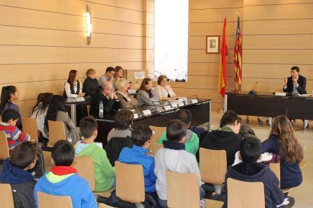 Visita al Ayuntamiento de Alfafar del CEIP Orba. EPDA