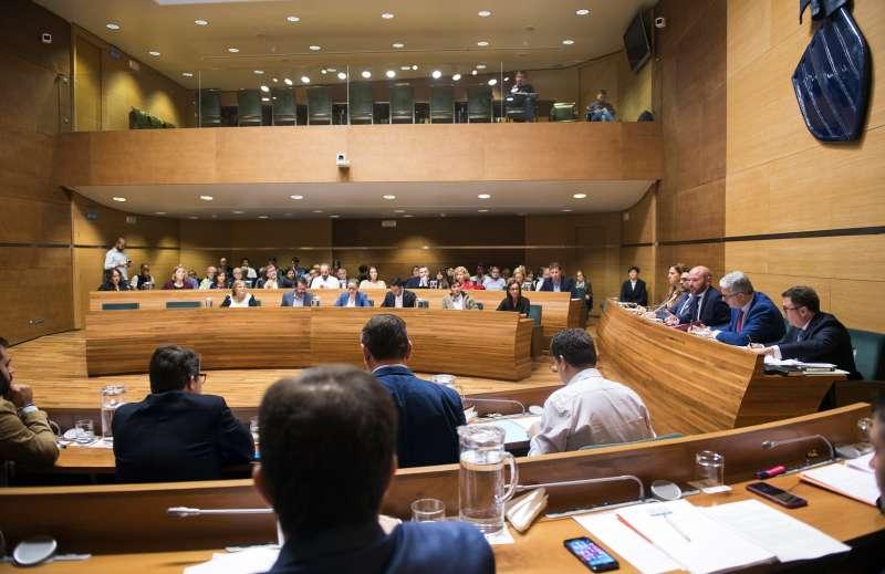 Pleno de hoy martes en la Diputación de Valencia. ABULAILA