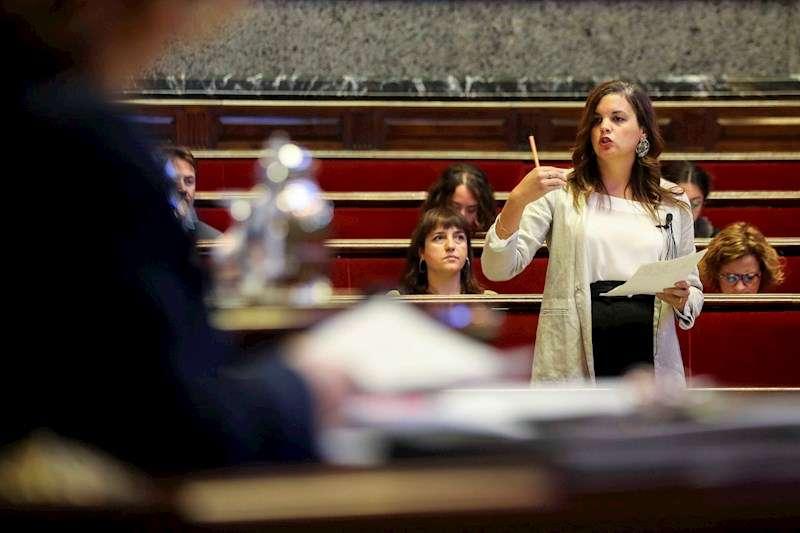 La Portavoz del grupo municipal del PSPV-PSOE en el Ayuntamiento de València, Sandra Gómez. EFE