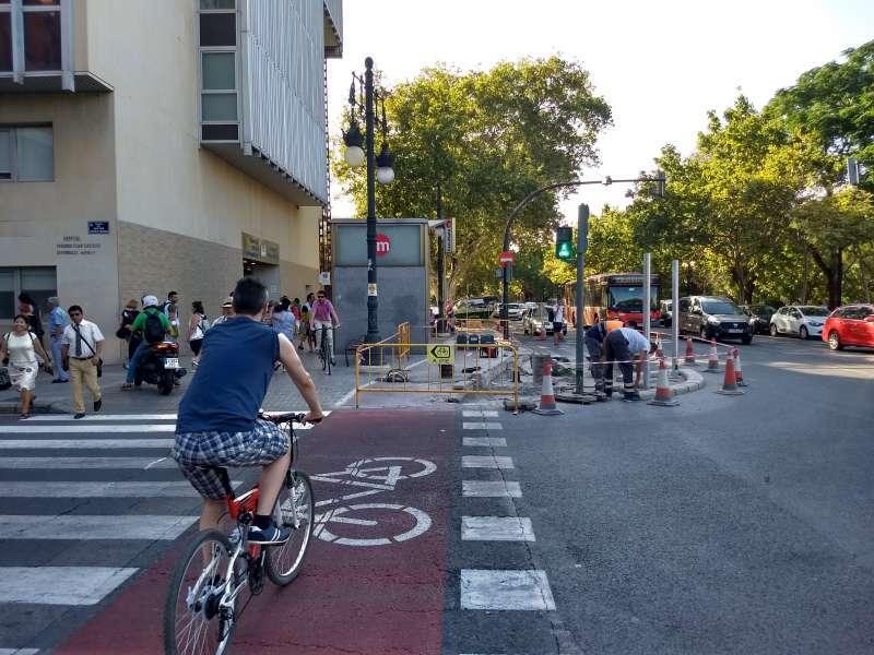 Un carril bici en València. EPDA