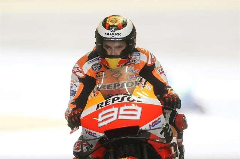 El piloto Jorge Lorenzo del Repsol Honda Team durante unas sesiones libres. EFE/