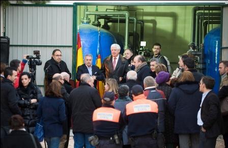El Presidente de la Diputación de Valencia en el acto de inauguración. Foto: Abulaila