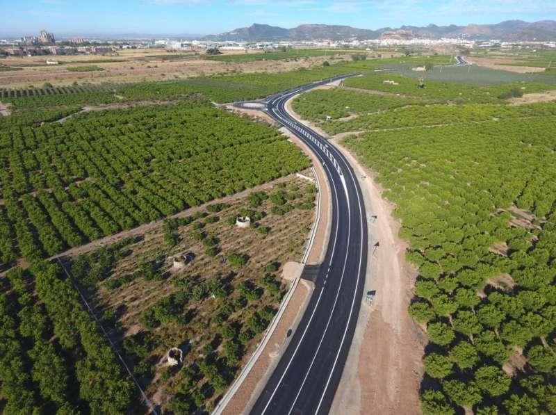 Carretera que conecta Sagunt con Canet. EPDA