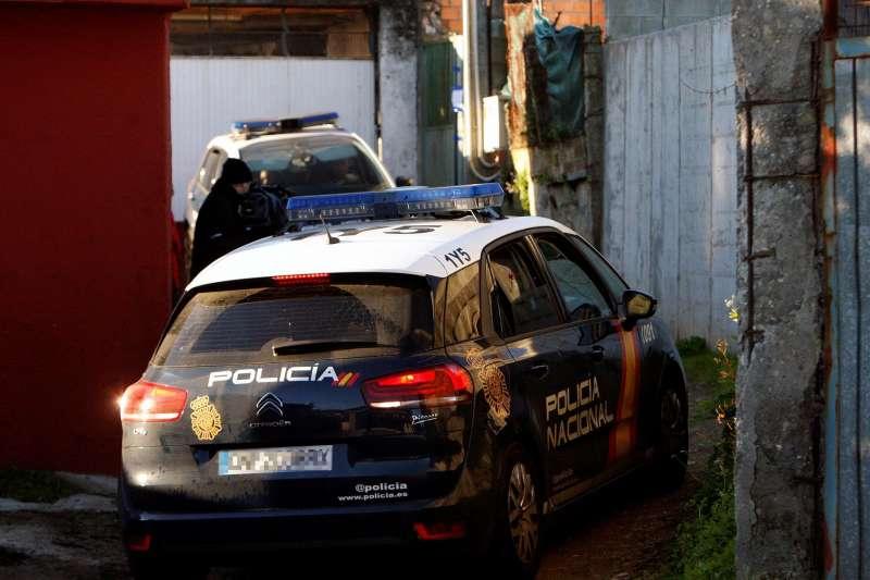 Un coche de la Policía Nacional durante una operación.