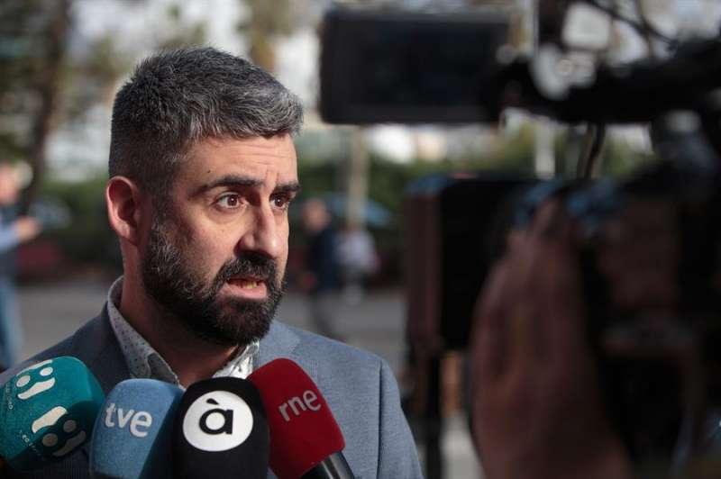 Pere Fuset a su llegada a la Ciudad de la Justicia de València . EFE/Biel Aliño