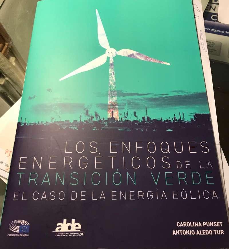 Portada del trabajo presentado por la Punset sobre la energía eólica. EPDA