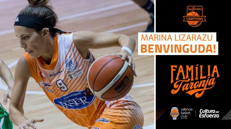 Marina Lizarazu, quart reforç per a València Basket