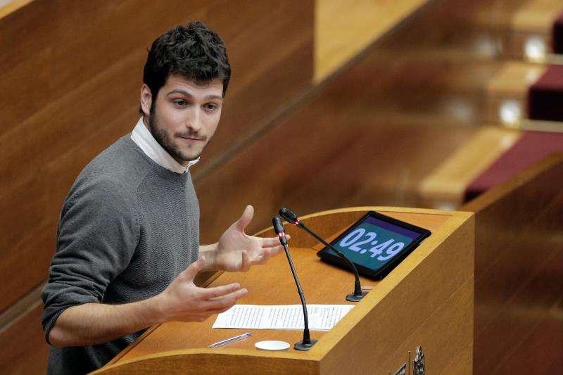 El secretario general de Podem en la Comunitat Valenciana y portavoz en Les Corts Valencianes, Antonio Estañ. EFE/Archivo