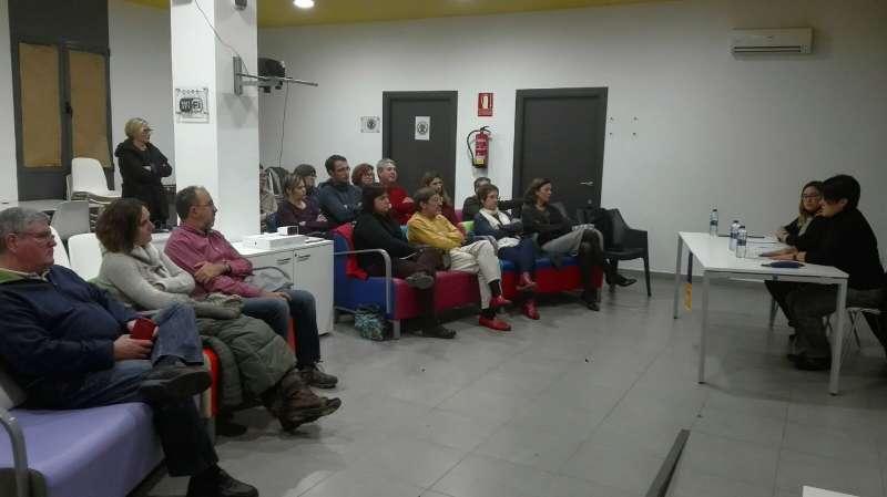 Acte sobre la violència de génere organitzat per ERPV a Benifairó de les Valls. EPDA
