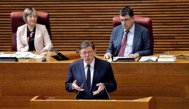 El president de la Generalitat, Ximo Puig, en Les Corts Valencianes en una imagen reciente. EFE
