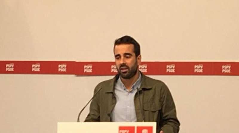 El secretario de Organización de los socialistas valencianos, Jose Muñoz