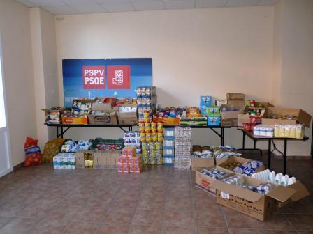 Alimentos recogidos. Foto: EPDA.