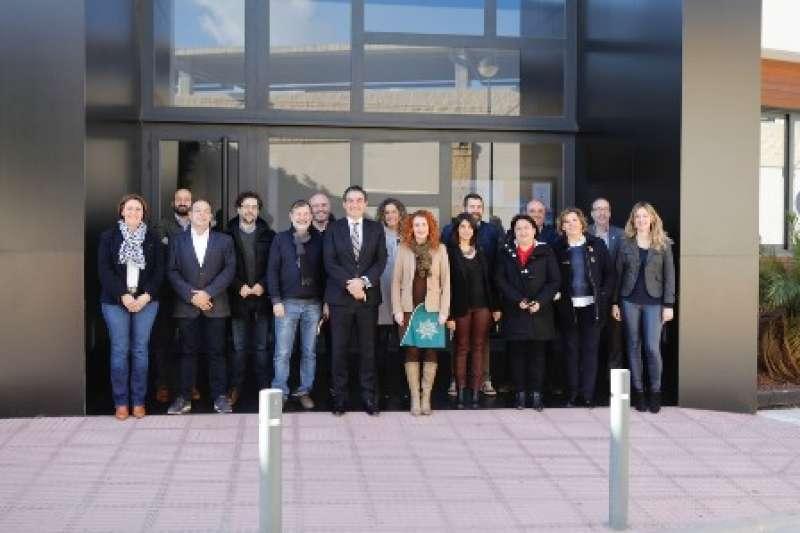 Integrantes de la Xarxa tras una reunión. EPDA
