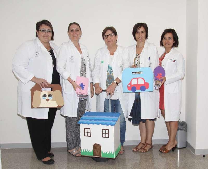 Equipo de la Unidad Domiciliaria Pediátrica del Hospital La Fe.
