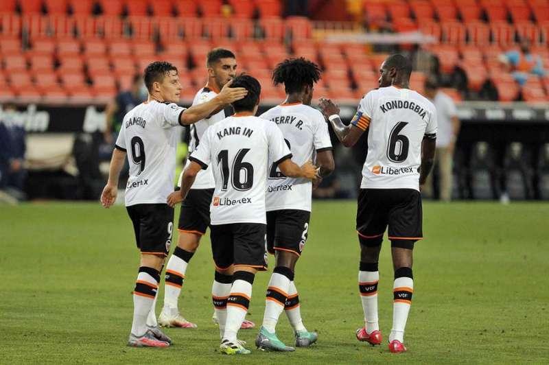 El Valencia durante un partido hace unos meses.