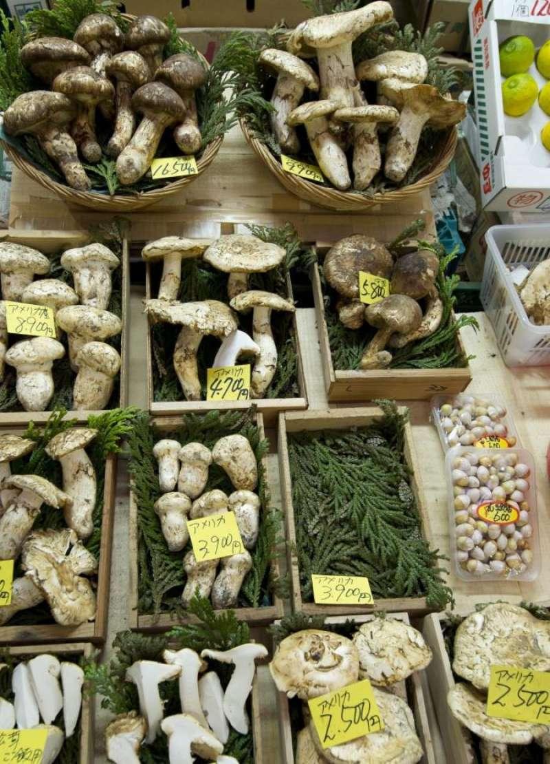 Imagen de un puesto de setas en un mercado. EFE/Archivo