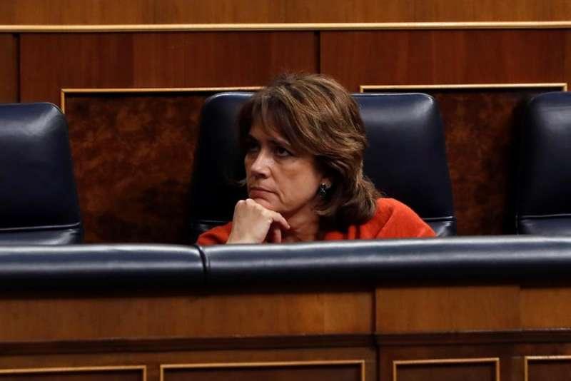 La hasta ayer ministra de Justicia, Dolores Delgado. EFE/J.J.Guillén/Archivo