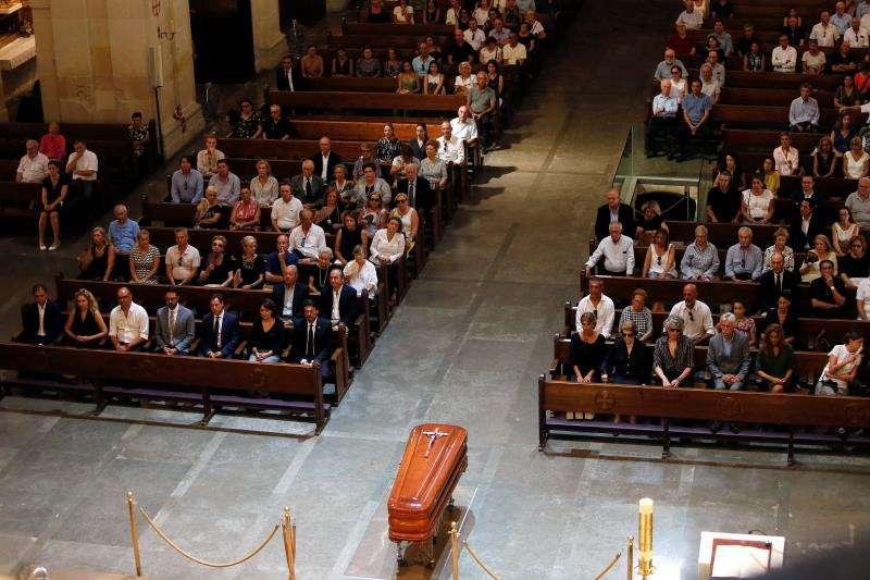 Funeral del arquitecto Juan Antonio García Solera, en la concatedral de San Nicolás. EFE