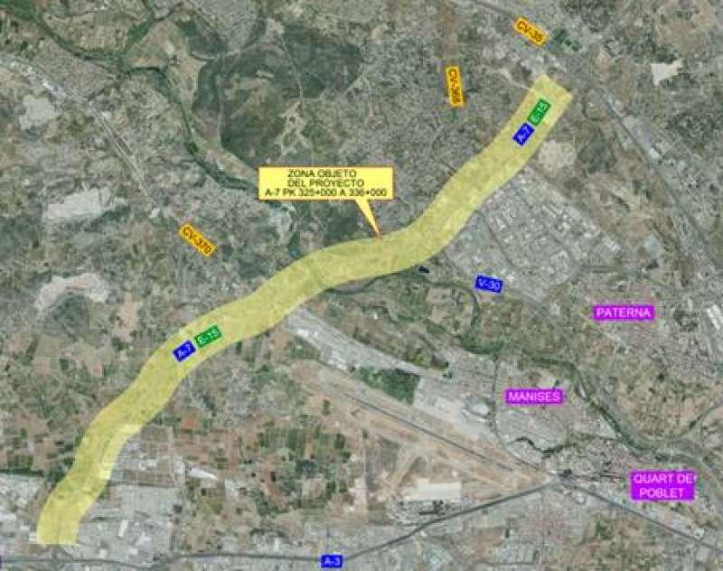 Zona del proyecto. MINISTERIO DE FOMENTO