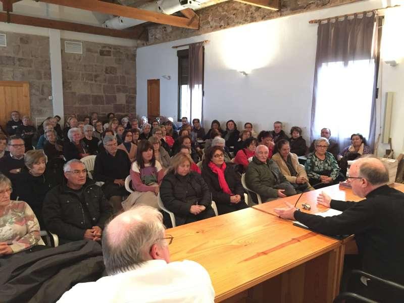 Los asistentes en el Monasterio de Santo Espíritu en Gilet. EPDA