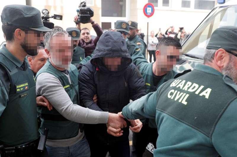El sospechoso de la muerte de Marta Calvo, Jorge Ignacio P.J., de 38 años, a su llegada al Juzgado 6 de Alzira