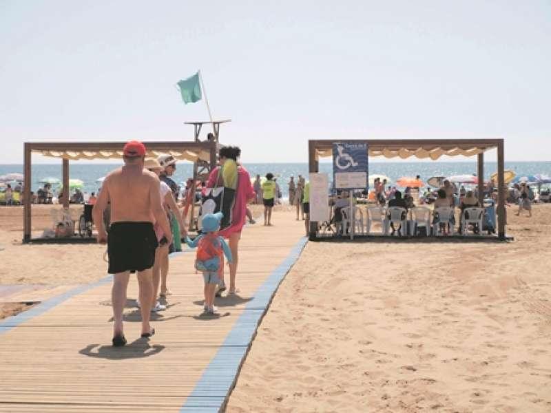 Playa Norte de La Pobla. EPDA