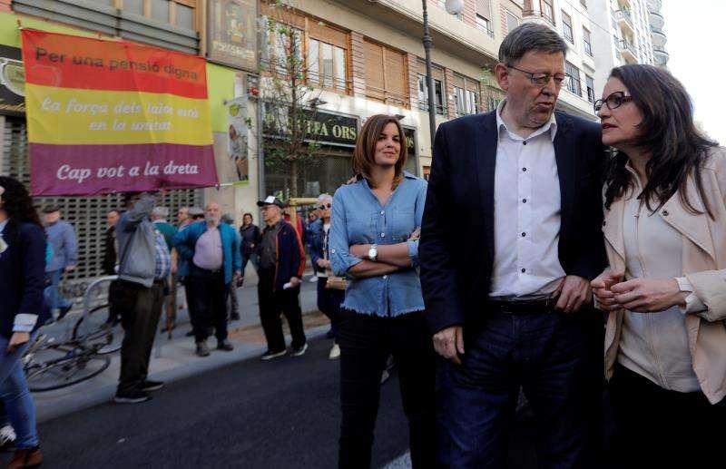 El president de la Generalitat y la vicepresidenta del Gobierno valenciano, Ximo Puig y Mónica Oltra. EFE