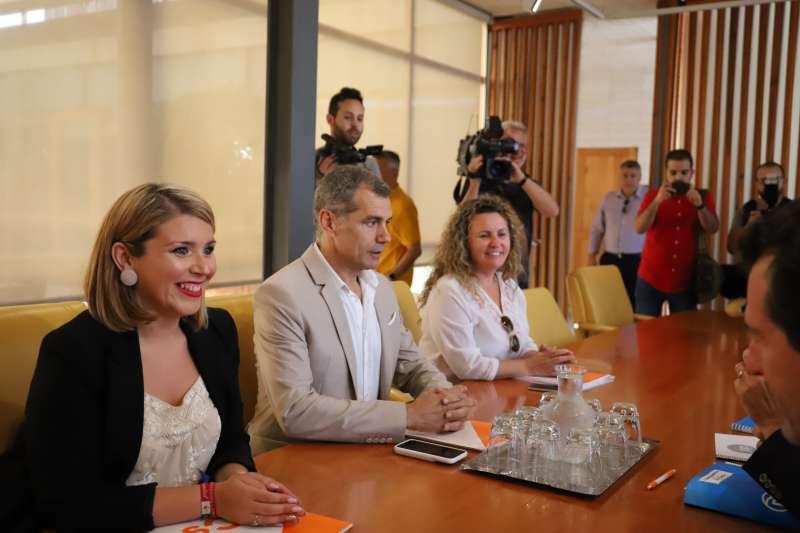 Toni Cantó,  Mari Carmen Sánchez y Cristina Fernández de Ciudadanos