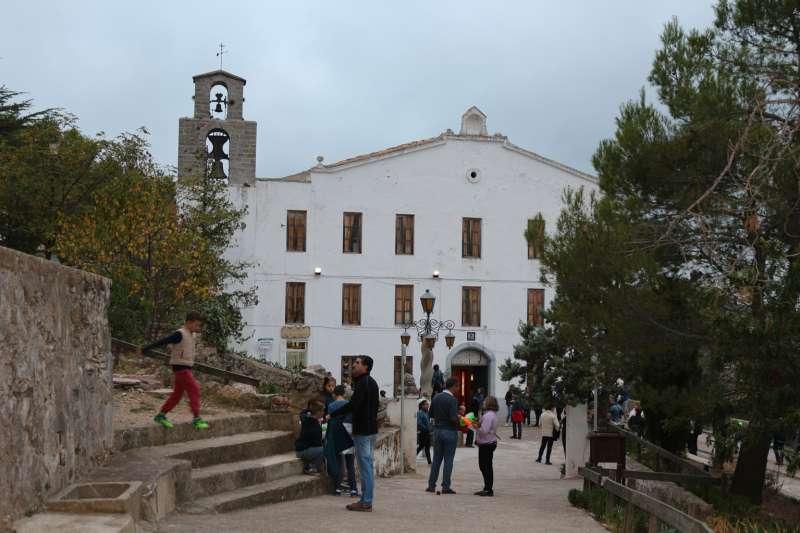 Edificio de la hospedería del Santuario de la Cueva Santa