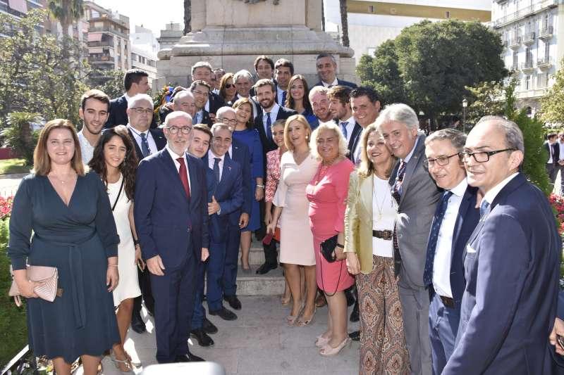 Pablo Casado arropa al PP de València en el 9 d?Otubre / Foto: Plácido González