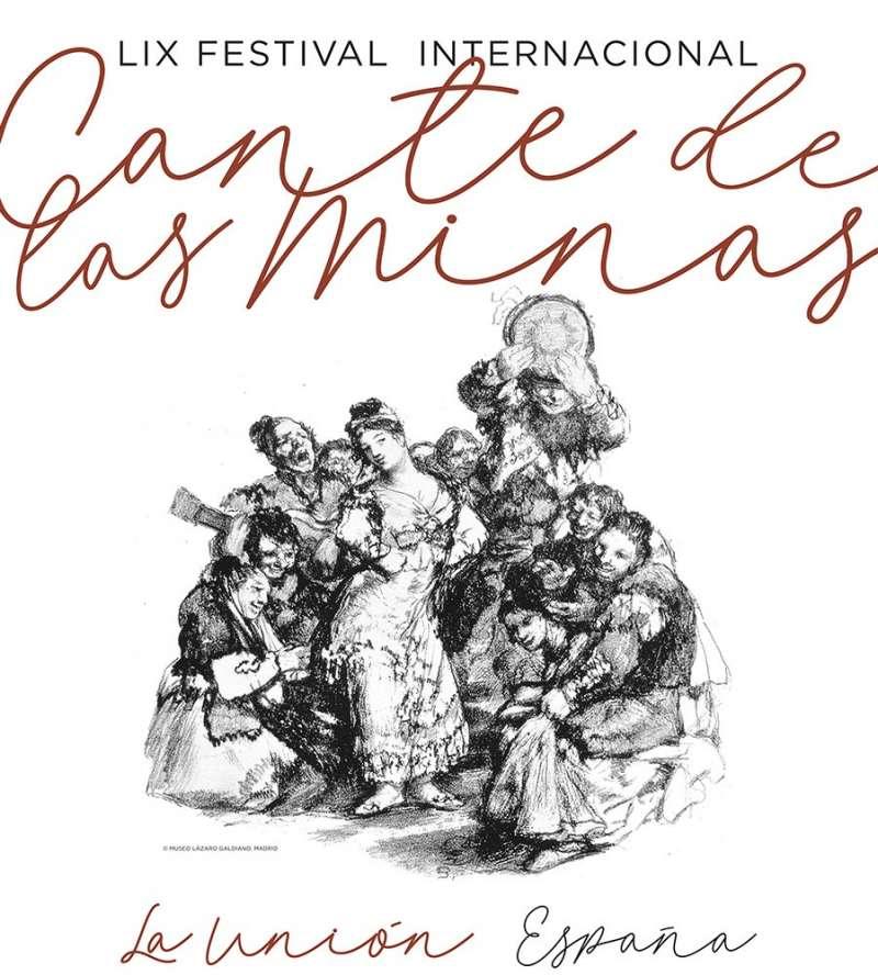 Cartell del Lámpara Minera Festival Cante de las Minas 2019. EPDA