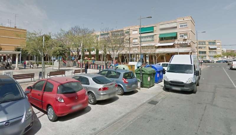 Plaza San Juan de Ribera en la que ocurrieron los hechos. EPDA