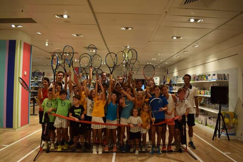 Campeonato de tenis en El Corte Inglés de Pintor Sorolla