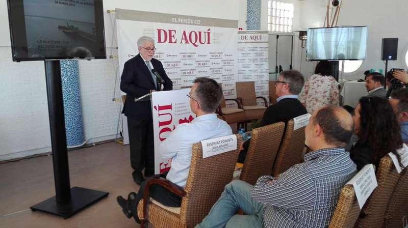 Francisco Pérez Puche, en la conferencia inaugural de las II Jornadas sobre la Albufera de El Periódico de Aquí celebradas en marzo de 2018. EPDA