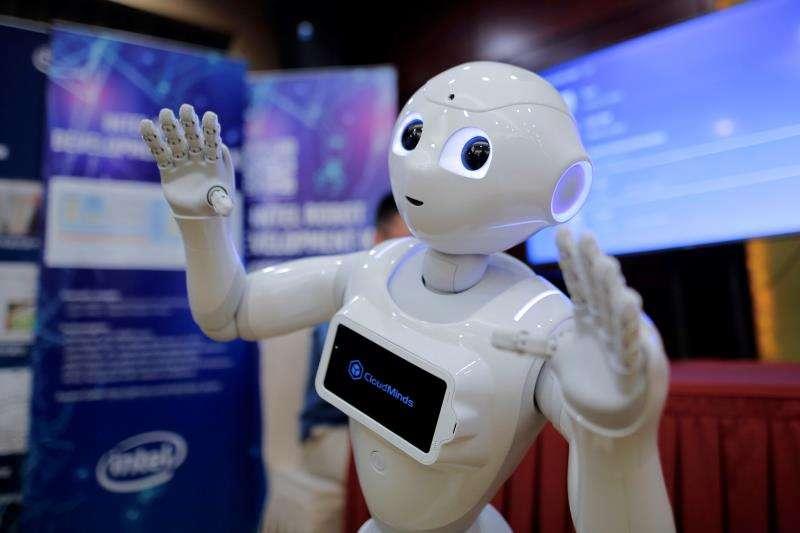 Imagen de archivo de un robot en un foro de inteligencia artificial. EFE/Archivo