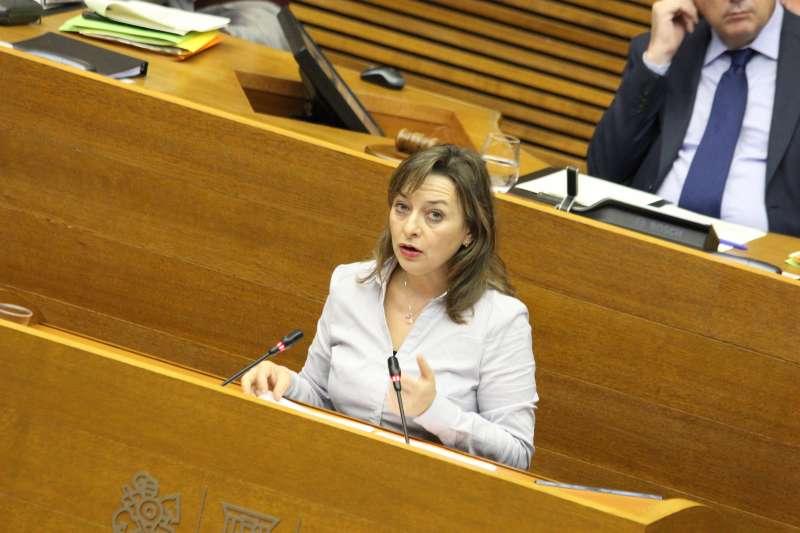 La diputada preocupada por los gorriones comunes valencianos. FOTO EPDA