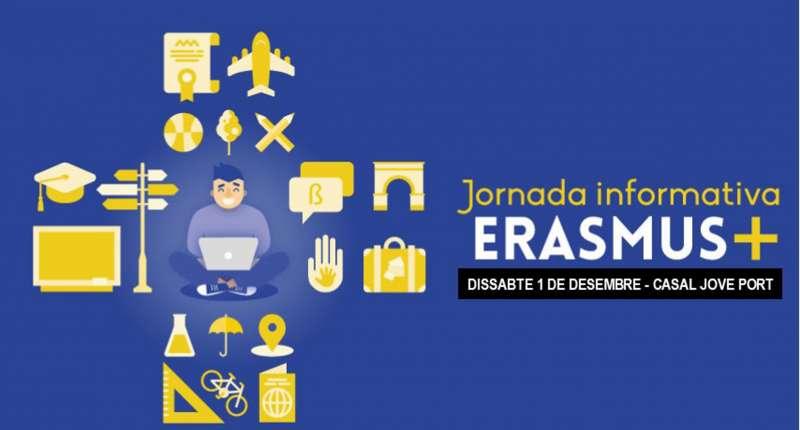 Cartel del programa Erasmus +. EPDA