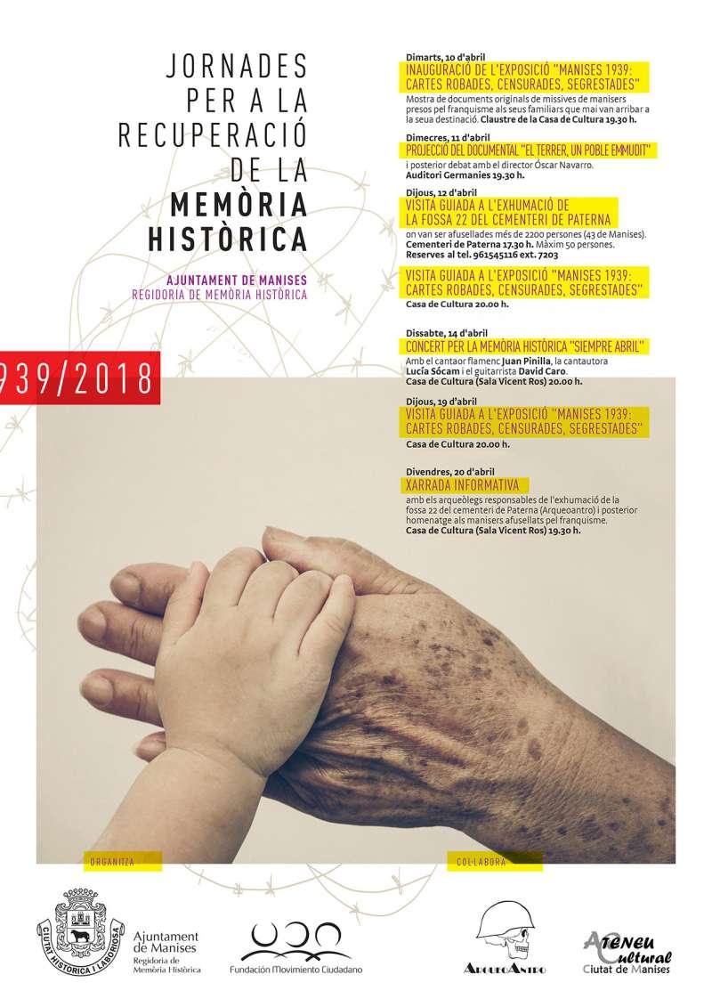 Cartell jornades per a la recuperació de la memòria històrica