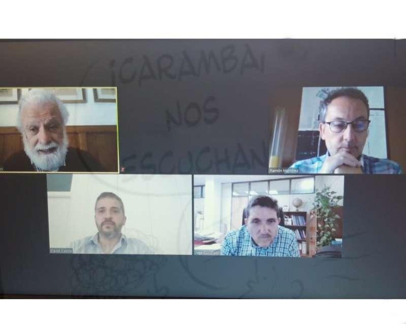 Captura de la reunión virtual