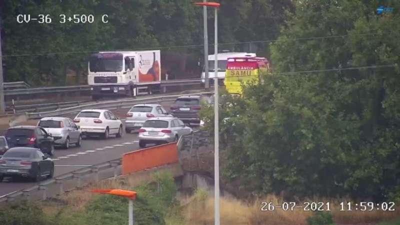 Imagen de una cámara de tráfico de la DGT