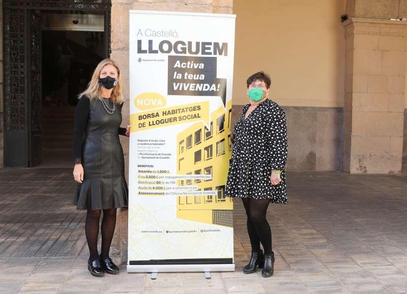 Amparo Marco y María Jesús Garrido, bolsa de alquiler social / EPDA