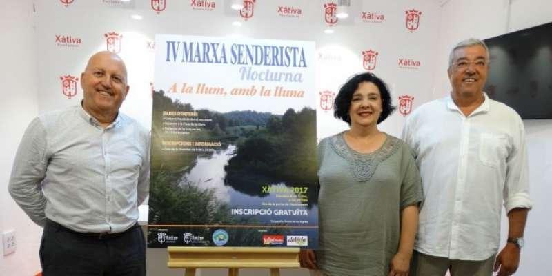 Presentació de la IV Marxa Senderista Nocturna de Xàtiva. EPDA