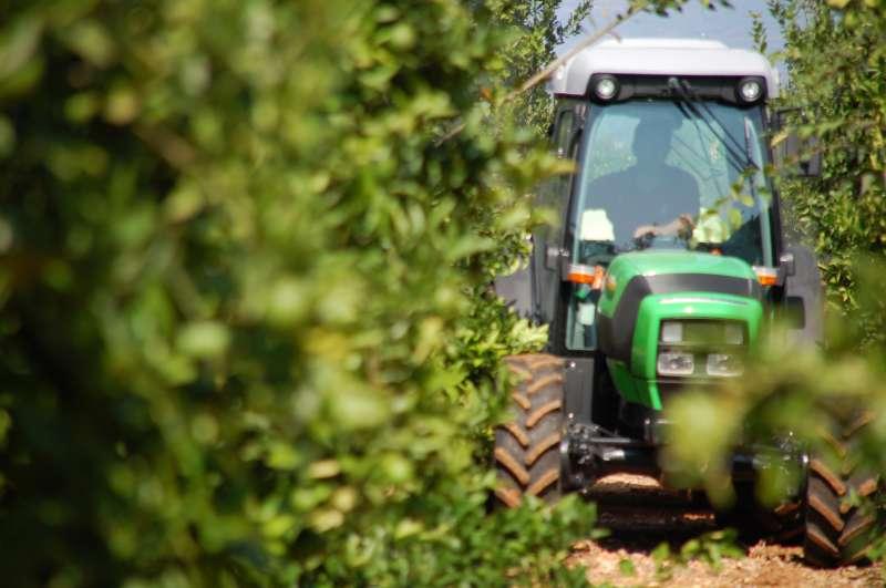 Tractor en el campo.